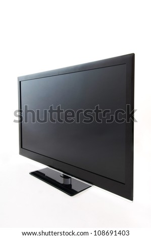 Tv in the white background - stock photo