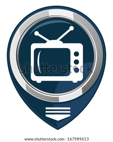 TV map pointer - stock photo