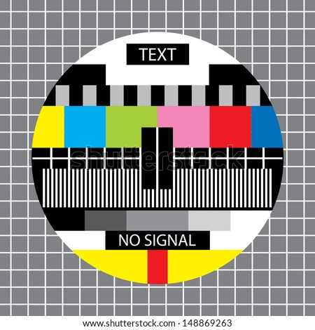 tv no signal monoscope - stock photo