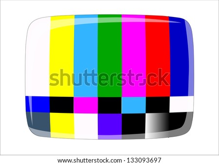 tv - NTSC signal , - stock photo