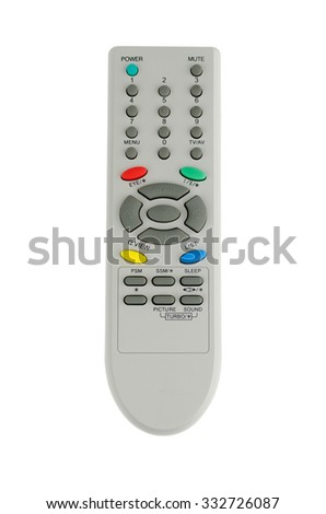 Tv remote control isolate on white background - stock photo