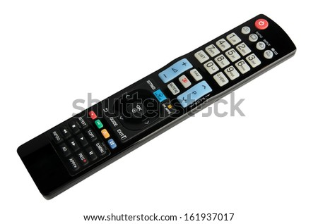 TV remote control isolated on white  - stock photo