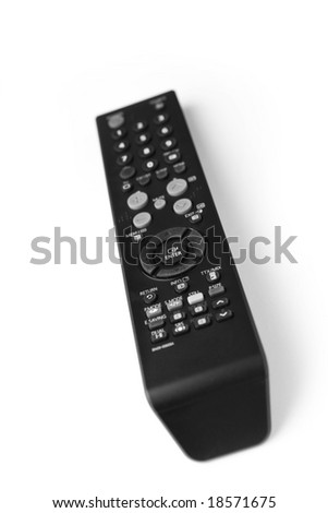 TV remote control. isolated on white - stock photo