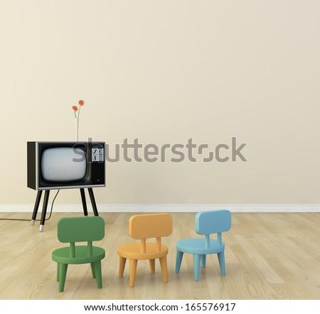 tv room  - stock photo