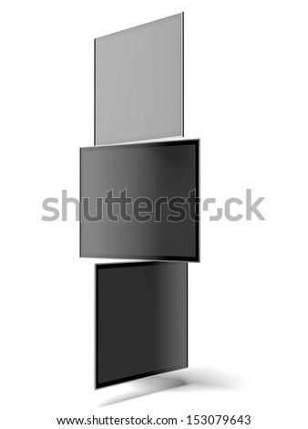 TV wall - stock photo