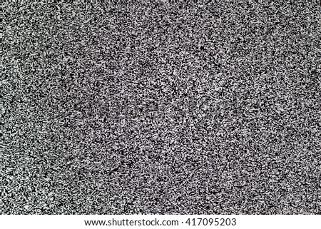 TV white noise on lcd screen - stock photo