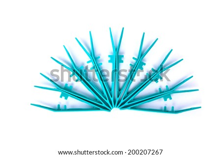 Tweezers Medical Tool and Surgery Instrument, Isolated on white background. - stock photo