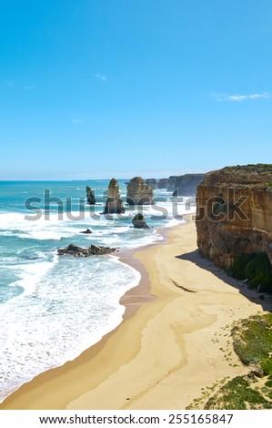 Twelve Apostles along Great Ocean Road, Victoria (Australia)  - stock photo