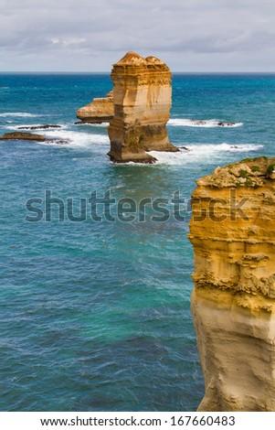 Twelve Apostles, famous landmark along the Great Ocean Road, Victoria, Australia - stock photo