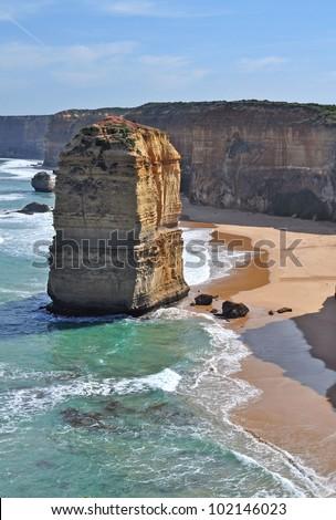 Twelve apostles. Great Ocean Road, Australia. Famous rock formations - stock photo