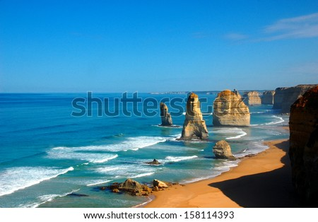 Twelve Apostles on Great Ocean Road, Australia. - stock photo