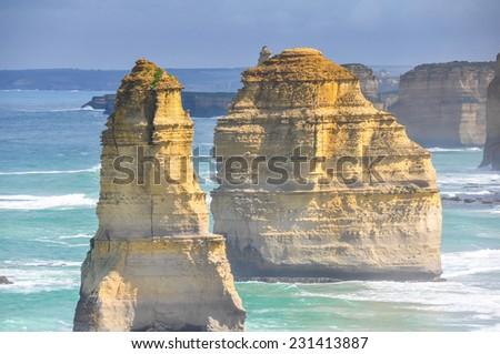 Twelve Apostles, Victoria (Australia) - stock photo