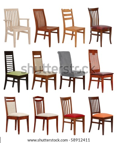 twelve modern chair - stock photo