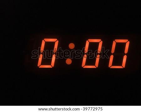 twelve o clock - midnight - stock photo