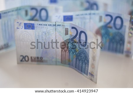 Twenty euro banknotes money - stock photo