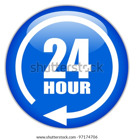 Twenty four hour sign - stock photo