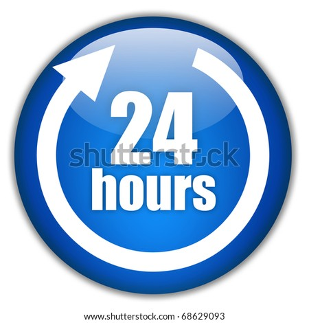 Twenty four hours service - stock photo