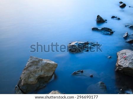 Twilight Mist Sea Thailand - stock photo
