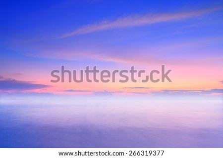 Twilight sky and the sea - stock photo