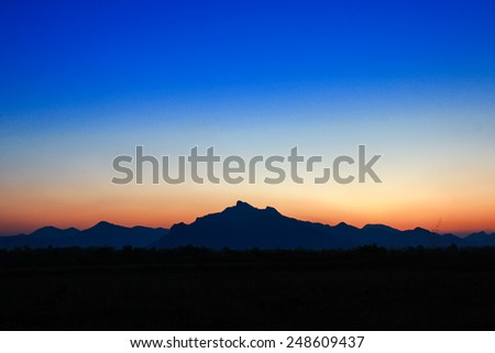 twilight sunset - stock photo