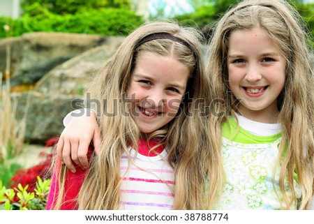twin sister floral - stock photo