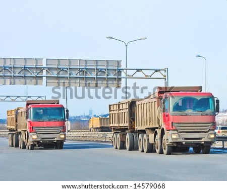 "twin trucks -  of ""Trucks"" series in my portfolio - stock photo"