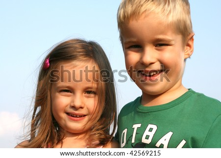 Twins Kids - stock photo