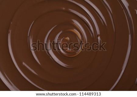 twirling chocolate - stock photo