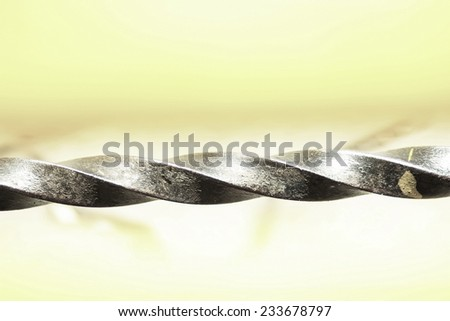 Twist drill. boring - stock photo