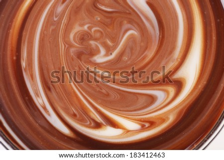 Twisted chocolate mixed texture. - stock photo