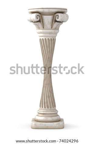 Twisted Column - stock photo