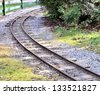 Twisting railway in the park - stock photo