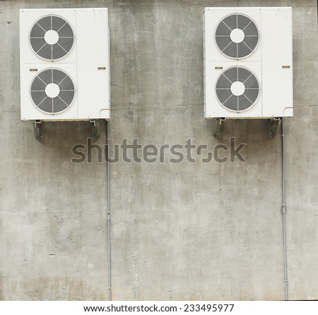 Two Air Compressor - stock photo