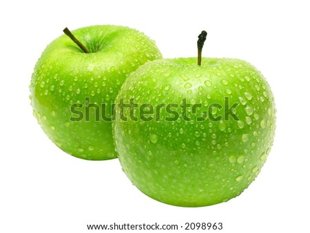 Two Apples w/ Path - stock photo