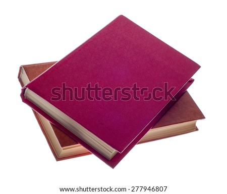 two  book isolated on a white background - stock photo