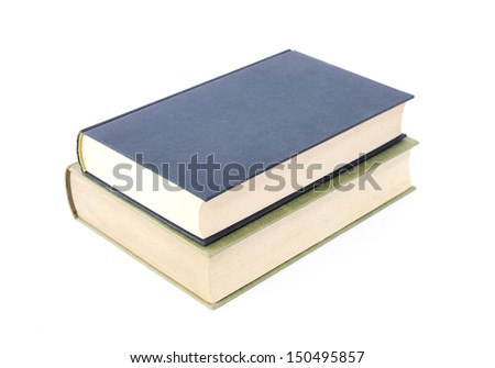 two books isolated on white background  - stock photo