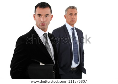 two businessmen posing - stock photo