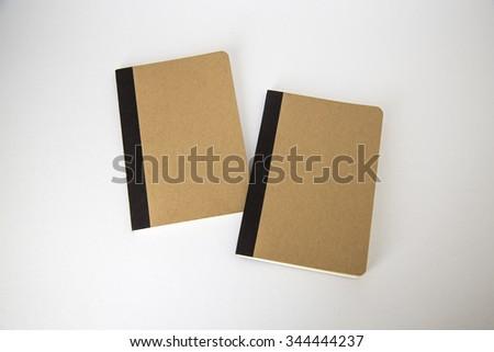 Two Cardboard notebooks mock ups - stock photo