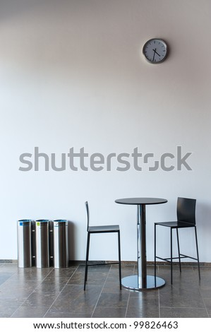 Two chairs and a table - stock photo