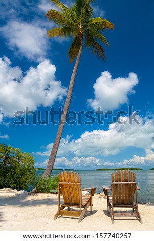 Two Chairs in Florida keys - stock photo