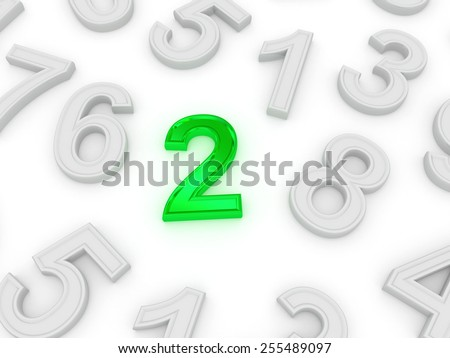 two. 3d - stock photo