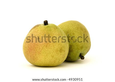 Two d'anjou pears, isolated - stock photo