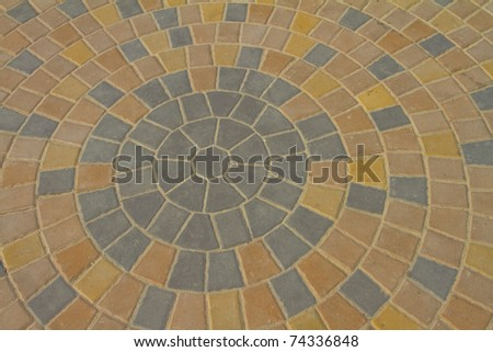 two different kinds block paving background - stock photo