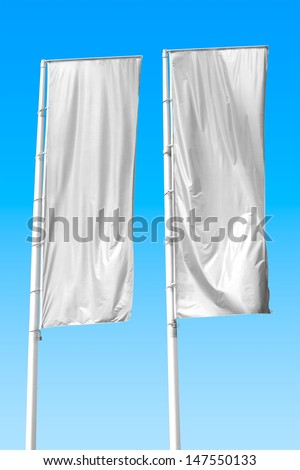 Two empty vertical banners. Blank space for write at your own - stock photo