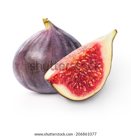 Two figs - stock photo