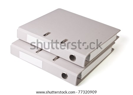 Two folder - stock photo