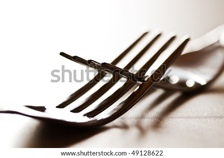 two forks - stock photo