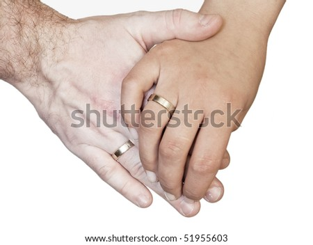 Two hands - stock photo