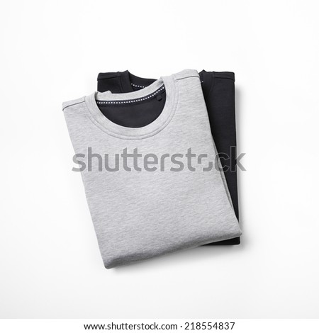 two jumpers isolated on white - stock photo