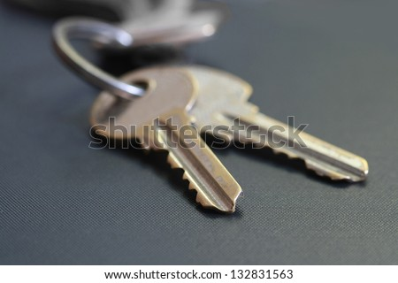 two keys - stock photo